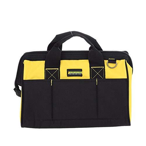 ROBDAE Tool Bag Multifunction Power Tool Shoulder BagOxford Cloth Waterproof Tools Bag Organiser Tool Storage Bag Color  Black Yellow Size  One Size