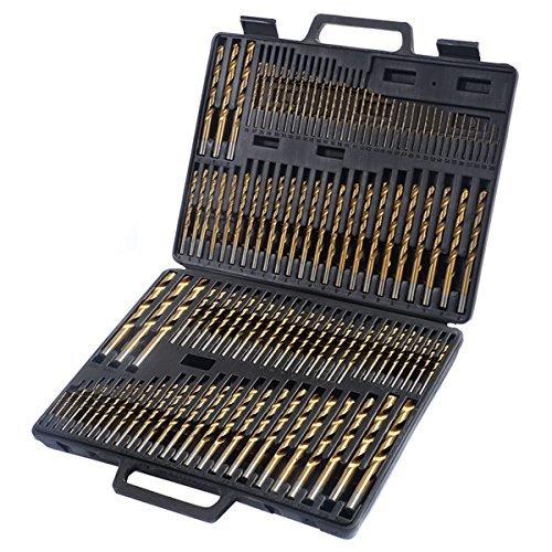 GoplusNew 115pc HSS High Speed Steel Titanium Drill Bit Set Metal w Index Carry Case