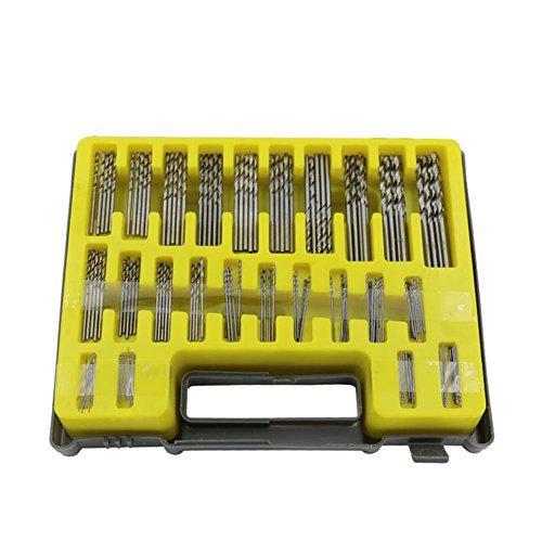 xlpace 150PCS 04-32mm Drill Bit Set Small Precision with Carry Case Plastic Box Mini HSS Hand Twist Drill Kit Tools
