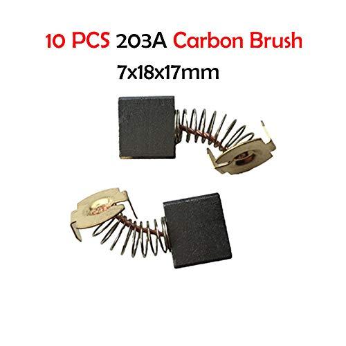 Motor Carbon Brushes - SENRISE 10pcs Various Size Electric Replacement Motor Carbon Brushes for Power Tool