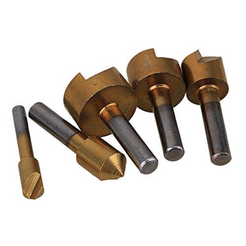 BQLZR 6-19mm Chamfering Device Drill Bit 82 Degree End Mill Cutter Bit Countersink Drill Bit Pack of 5