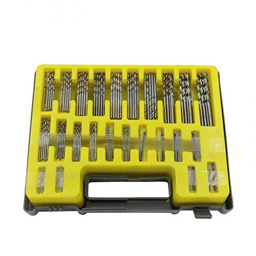 150PCS 04-32mm Drill Bit Set Small Precision with Carry Case Plastic Box Mini HSS Hand Twist Drill Kit Tools-OmenTech