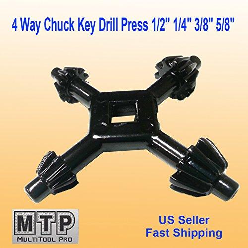 MTP 4 Way Chuck Key Drill Press 12 14 38 58 Universal Combination 1  2 3 - 4