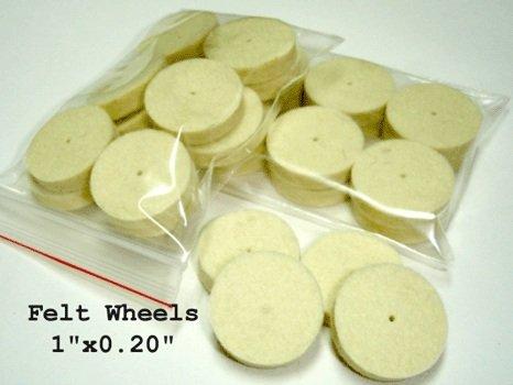 Felt Wheels - Small 100pcs
