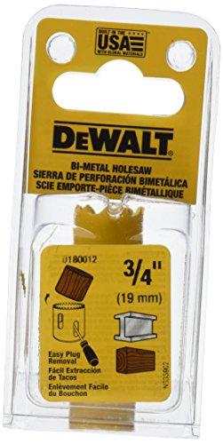 DEWALT D180012 34-Inch Standard Bi-Metal Hole Saw