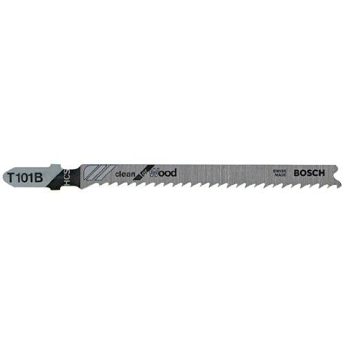 Bosch T101B100 Wood Plastic Clean Cut 4 x 10 TPI T-Shank Style Jigsaw Blades 100-Pack