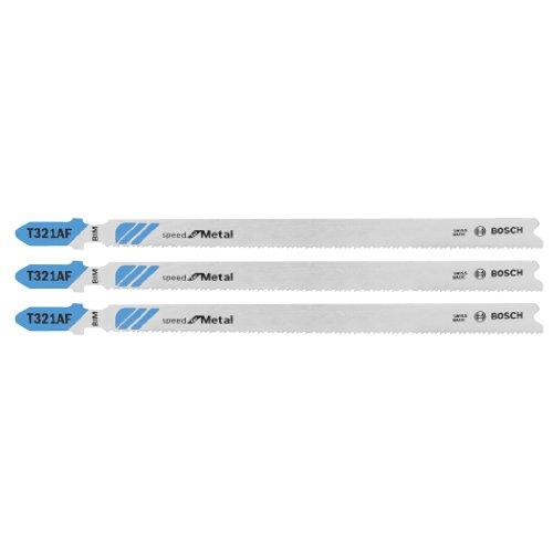 Bosch T321AF3 5-14-Inch X 21-Tpi Bim Speed for Metal T-Shank Jigsaw Blade 3-Pack