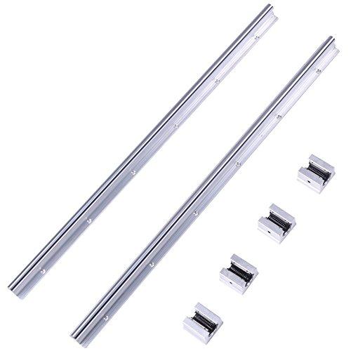 Linear Rail 2pcs SBR12-600mm 12MM Linear Bearing Rail Slide Guide Shaft  4Pcs SBR12UU Blocks Ecm Motor Linear Bearing Rail