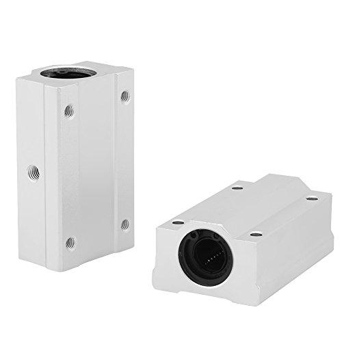 Slide Block 2Pcs 12mm SCS12LUU Aluminum Linear Motion Ball Bearing Slide Block for CNC Motor Parts Slide Unit