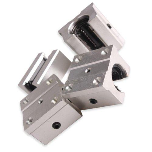 Vktech 4 Pcs Aluminum Open Linear Router Motion Bearing Solide Block SBR16UU 16mm
