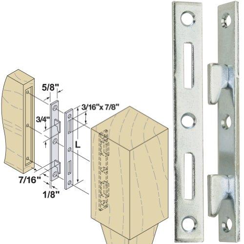 Woodtek 160550 Hardware Furniture Bed Hardware 5 Bed Rail Fasteners Clear Zinc 4 Pair
