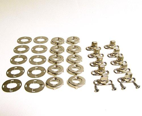 Common Sense Turn Button Fastener 10 Piece Set w ½ Mounting Screws Marine Grade Nickle Brass Construction