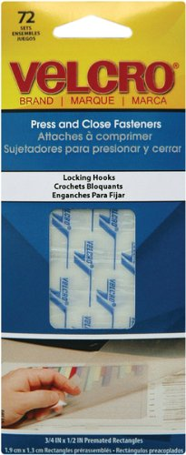 Velcro R brand Press And Close Hook Fasteners 72 1 pcs sku 643298MA