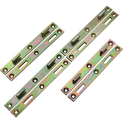 6 x 58 Heavy Duty Wrought Steel Bed Rail Fasteners 4-Pack