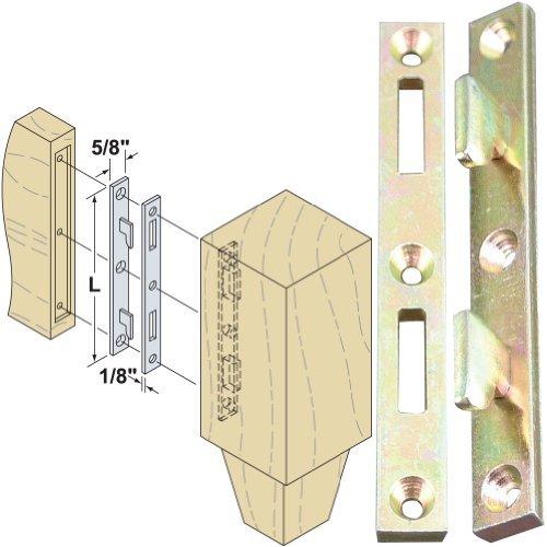Platte River 130607Hardware Furniture Bed Hardware 5 in Bed Rail Fasteners-Ylo Zinc 4-Pack