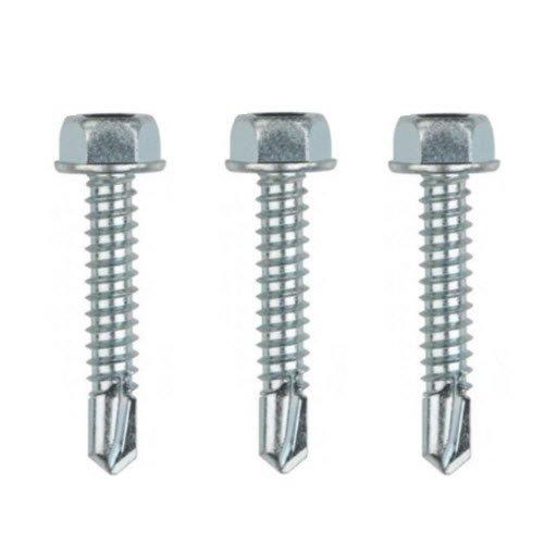 10-Pack 6 x 1 Hex Washer Head Self Drilling Screws Zinc Plated Steel Sheet Metal Screws Meets ASME B1863IFI-113 Standards by Fastener Pro