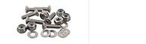 SEA-LECT Designs 10-32 Oval Head 1 Inch Fastener Set Screw Nyloc Nut Washer