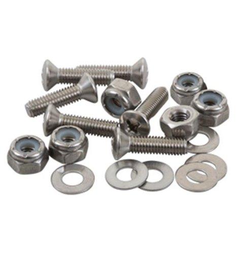 SEA-LECT Designs 8-32 Oval Head 1 Inch Fastener Set Screw Nyloc Nut Washer