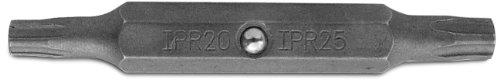 Megapro TPDT20-25 S2 Steel Hex Shank Double-Ended Spanner Bit for Tamperproof Screwdriver T20 x T25 Point Size 14 Hex Shank 2 Length