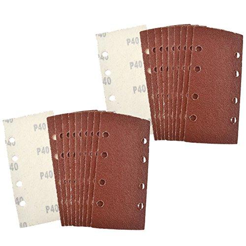Velcro 13 Sheet Sanding Sander Sandpaper Pads 20 Pack 40 Grit