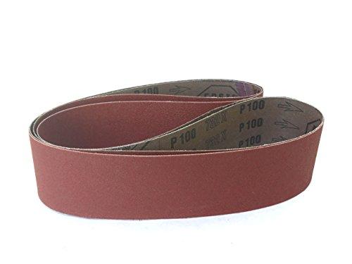 2 X 36 Inch Sanding Belts Aluminum Oxide Cloth Sander Belts 6 Pack 220 Grit