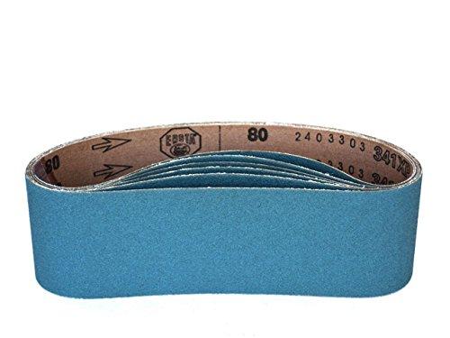 3 X 21 Inch Sanding Belts Zirconia Cloth Narrow Sander Belts 8 Pack 80 Grit