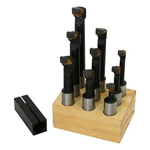 Boring Bar Set 12 Shank Carbide with Holder for Mini Lathe