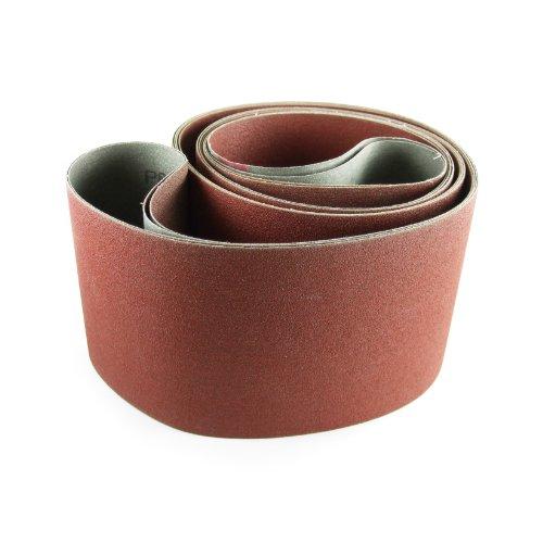 6 X 80 Inch 320 Grit Aluminum Oxide Multipurpose Sanding Belts 2 Pack