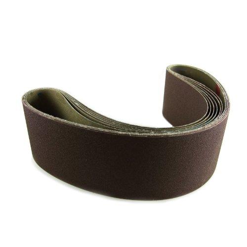 6 X 80 Inch 50 Grit Aluminum Oxide Metal Sanding Belts 2 Pack