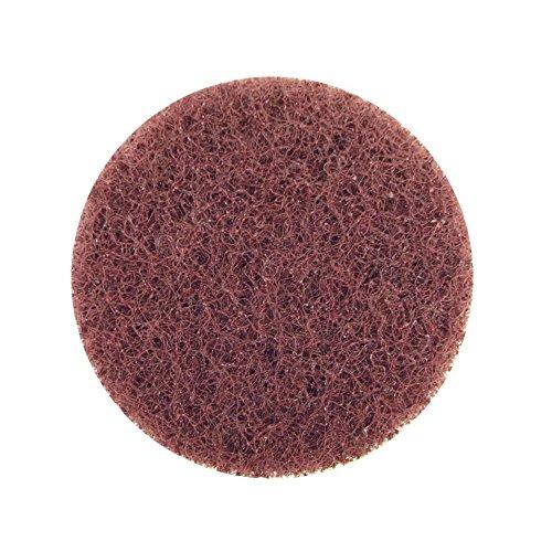 Merit Abrasotex Nonwoven Abrasive Buffing Disc Nylon Backing Power-Lock Type I Quick-Change Waterproof 3 Diameter Grit Coarse Case of 25