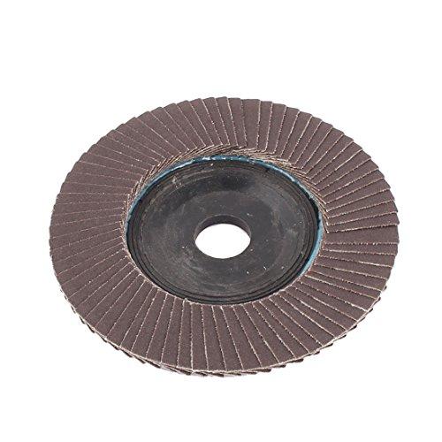 uxcell 16mmx100mm 320 Grip Fan Type Abrasive Flap Sanding Buffing Disc Grinding Wheel