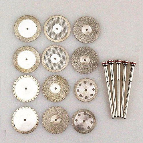 Airgoesin 12 Dental Diamond Polishing Wheel Saw Disc Cutter  5 HP Shank Mandrel 235mm