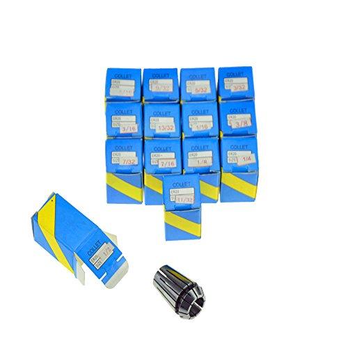 CycleMore Super Precision 14 PCS 116-12 ER20 ER-20 Collets Set With 1163321853231673214932516113238133271612