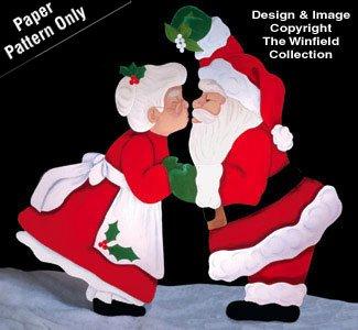 Santa Christmas Kiss Yard Art Woodworking Pattern