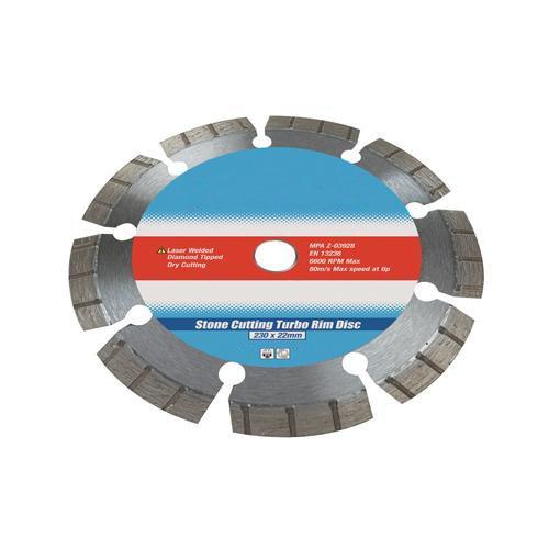 300mm x 20mm Laser Welded Turbo Rim Diamond Blade - Cutting BrickGranite