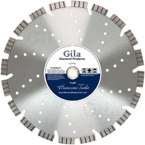 GilaTools 14 Turbo Segmented Concrete Brick Block Masonry Multi Purpose Cutting Diamond Saw Blade 1 Arbor