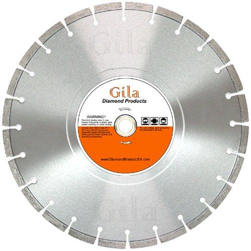 GilaTools 24 Segmented Concrete Brick Block Stone Masonry General Purpose Diamond Cutting Blade 1 Arbor