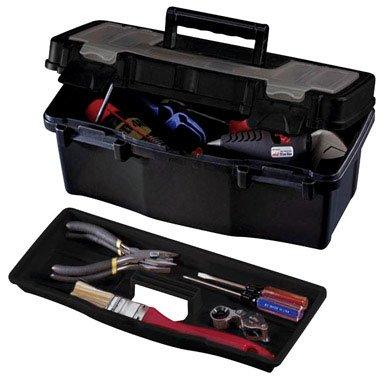 Stack-On PTB-12LS 12-Inch Plastic Tool Box Black