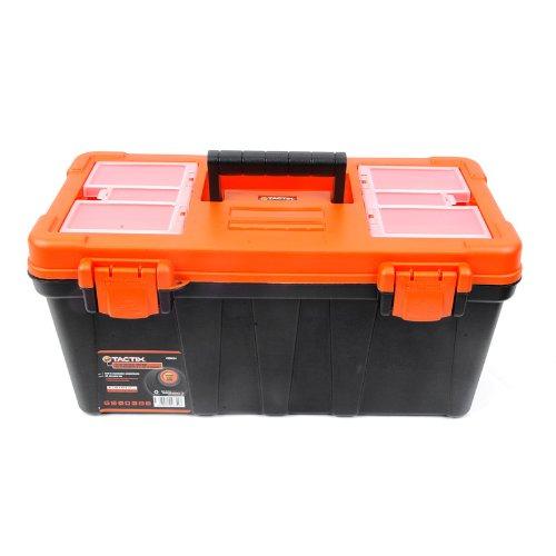 Tactix 320134 Plastic Tool Box 51cm BlackOrange