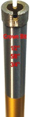 GilaTools 34 Premium-plus Crown Segmented Wet Concrete Drilling Diamond Core Bit 58-11 Thread