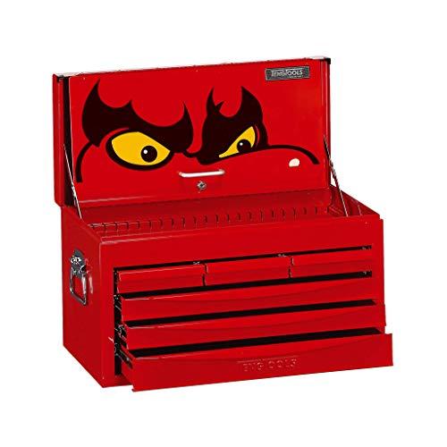 Teng Tools 6 Drawer Professional Steel Lockable Red SV Series Top Box - TC806SV