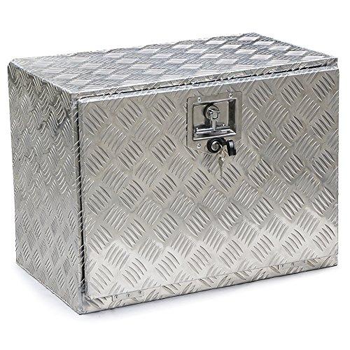 Topeakmart 24 Inch Aluminum Trailer Truck Underbed Tool Storage Box Utility Box