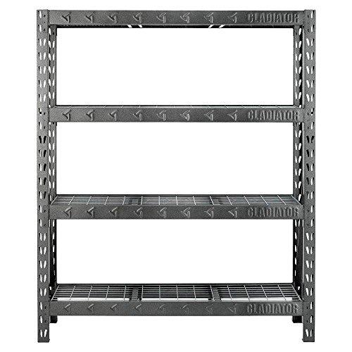 Gladiator 4-Shelf 60 in W x 72 in H x 18 in D Welded Steel Garage Shelving Unit