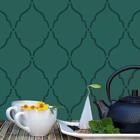 Moorish Delight Allover Stencil - Size LARGE - Better than Wallpaper - Stencils for Home Decor - Reusable Stencils for Walls - By Cutting Edge Stencils