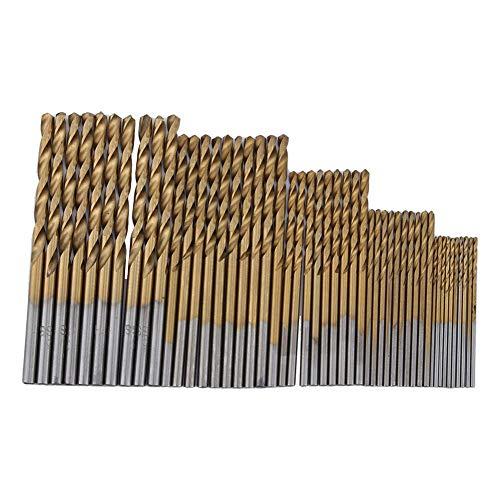 50Pcs Twist Drill Bit Set HSS Shank Titanium Coated High Speed Steel Mini Drill Bit Micro Precision 1152253mm Perfect for Wood Plastic Steel and Aluminum Alloy