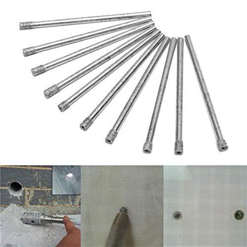 LHQ-HQ Drill Diamond Coated 10pcs 3mm Hole Saw Drill Bits Set Core Marble Glass Granite Drill Bits Drill Accessories