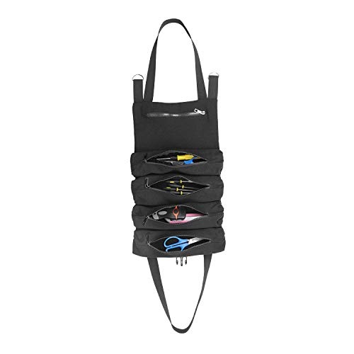 Roll Up Tool Pouch Rolling Tool Bag Organizer Wrench for ElectricianCraftsmanHVACPlumberCarpenter or Mechanic Black