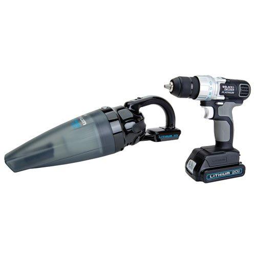 Black Decker Platinum BDH2000SDL 20-Volt Max Lithium Ion Slide Vac Drill Combo Kit