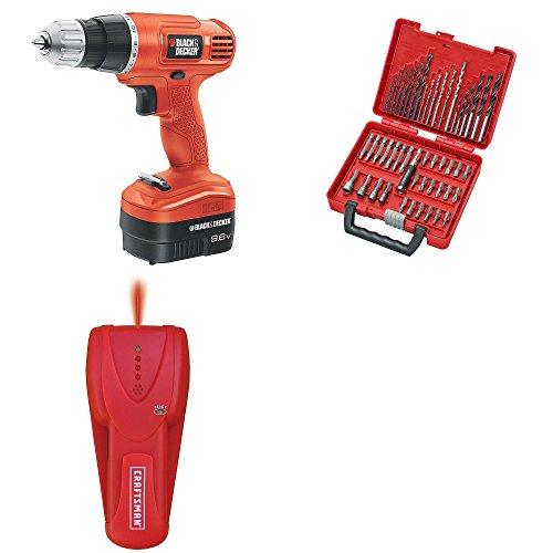 Craftsman  Best Craftsman - Black Decker Bundle for Construction  96 Volt Cordless Drill  50 Pc Drill Driver Bit Set  Guaranteed  Stud Finder  Top Rated - 1 Seller  Home Improvement