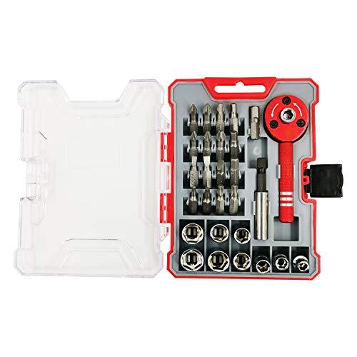 Ultrawall 28pcs Bike Repair Bits and CR-V Socket Set Screwdriver Bit Tool Box Set Multi Tool Bicycle Maintenance Hand Tool Set with Enhanced Storage Box